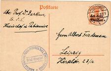 PK Ganzs. Germ. Überdruck Gen.Gouv.Warschau 1917 Pabiance Kreischef Polizei Lodz