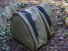 2 X NGT Deluxe en polyester Carp Coarse rembourré vert pêche à moulinet cas Set