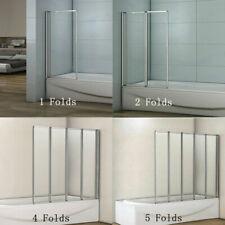 AICA 1/2/4/5Fold Folding Pivot Shower Bath Screen Glass Door Panel Bathroom