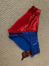Hot Topic Suicide Squad Harley Quinn Sequin Panty Boyshort sz M Nwt
