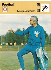 FOOTBALL carte entraineur fiche photo GEORG BUSCHNER ( ALLEMAGNE DE L'EST )
