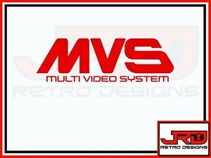 MVS Logo Sticker in Red Lettering
