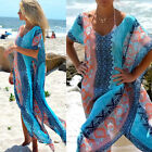 Women Beach Dress Cover up Kaftan Chiffon Sarong Wear Swim Bikini