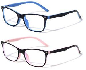 2 Pairs Kids Blue Light Blocking Glasses Anti Eyestrain UV Protection Computer