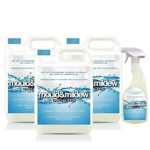 Pro-Kleen Mould & Mildew Remover, Cleaner 15L + 750ml Refill with Trigger Spray