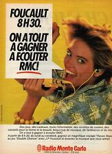 Publicité Advertising 1980 radio  RMC foucault on a tout a gagner a ecouter RMC