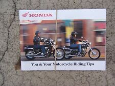 2000 Honda Motorcycle Riding Tips Manual Techniques Precautions Skill Test Ss