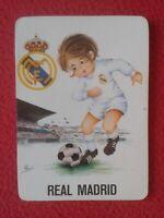 CALENDARIO DE BOLSILLO 1974 REAL MADRID CLUB FÚTBOL GALERÍAS ARAGONESAS FOOTBALL