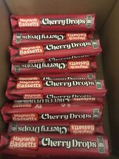 Maynards Bassetts Cherry Drops Std Size Roll (10) In A Box.Long Date Cherry Drop