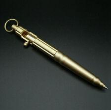 Gold Brass Bolt Action Ball Point Pen Tactical Ballpoint Pens Metal Copper Gift