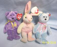 Ty Easter Basket Beanies: Set (3) Stuffed Collectible Easter Basket Beanies