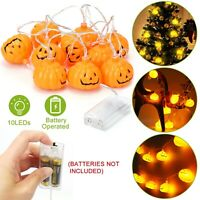 Outdoor Pumpkin String Fairy LED Lights Halloween Party Decor Hanging Prop Lamps