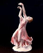 Ens Volkstedt Tanzerin Finale Isadora Duncan Porzellan Figur 33 cm Sammlerstück