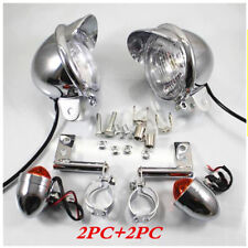 2PCS Motorcycle car modified chrome plated fog lamp lantern Turn Signal Light