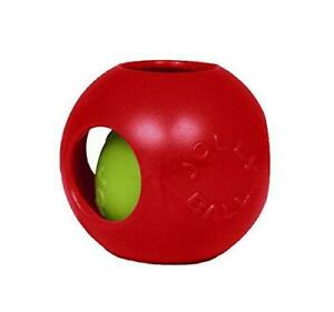 Jolly Pets Teaser Ball Dog Toy, Small/4.5 Inches, Red (1504 RD)