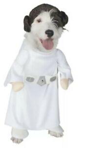 Princess Leia Costume Dog Star Wars Pet Halloween Dress Rubies Large New NWT