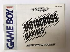 Nintendo Game Boy Moto Cross Maniacs Instruction Booklet Book Very Good