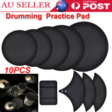 10Pcs Rubber Foam Bass Snare Drum Sound Off Quiet Mute Silencer Practice Pad AU