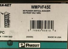 Panduit Wmpvf45E Cable Manager Cable Manager Black 1 Pack 45U Rack Height