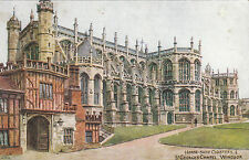 Artist Drawn, Horse Shoe Cloisters & St. George's Chapel, WINDSOR, Berkshire ARQ