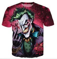 New Fashion Womens/Mens Cartoon Funny Joker 3D Print T-Shirt Spoof YT27