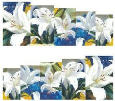 Nail Art Decals Transfers Stickers White Flowers (A-860)