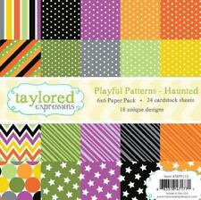 TAYLORED EXPRESSIONS  6X6 PAPER PACK - PLAUFUL PATTERNS - HAUNTED  TEPP113