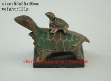 Four rare chinese antique bronze tortoise-shaped seal a01