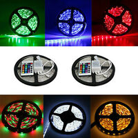 Flexible Waterproof 5M 12V 300 LED 3528 SMD RGB Car Strip Light Lamp + 24 New