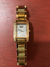 Croton Women's 23k Goldplated Diamond Watch pre owned with original box
