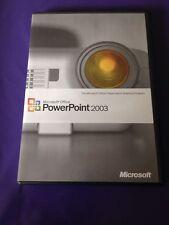 Microsoft powerpoint 2003 détail complet version authentique avec clé de produit