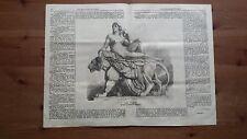 1871 Illustrazione Popolare: La Pace (gruppo in marmo di Clesinger)