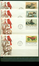 1972 FDC Set of 4 - Scott# 1464-67 - Wildlife Con - Cachet Craft Cachet  UA