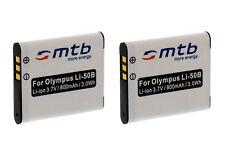 2 Akkus Li-50b für Pentax Optio I-10,RX18,RZ10,RZ18,WG-1,WG-1 GPS,WG-2,WG-2 GPSs