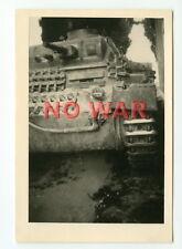 WWII ORIGINAL GERMAN WAR PHOTO TANK / PANZER IN ACTION *