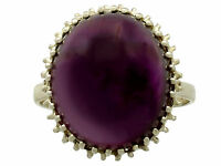Vintage 16.13 ct Amethyst and 14 ct Yellow Gold Dress Ring 1950s