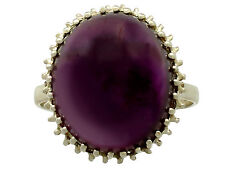 Vintage 16.13 ct Amethyst and 14Carat Yellow Gold Dress Ring 1950s