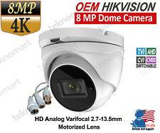 Hikvision OEM 8MP 4K ultra HD Analog Dome Camera Varifocal Lens IP67 IR 40m