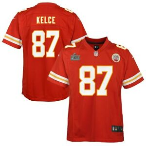 Kansas City Chiefs Youth Travis Kelce Nike Red Super Bowl LIV Game Jersey