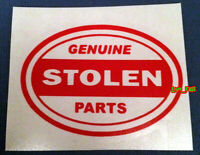 GENUINE STOLEN PARTS DECAL STICKER VINYL vintage hot rod rat rod drag racing fun