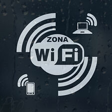 Wi Fi Zona Sign Decal Vinyl Sticker For Shops Pubs Hotels Cafes Offices Bars