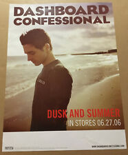 DASHBOARD CONFESSIONAL Rare 2006 DOUBLE SIDED PROMO POSTER w/ DATE for Dusk CD