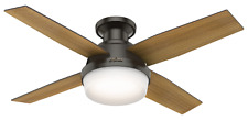 "Hunter 44"" Remote Control Ceiling Fan Dempsey Low Profile Noble Bronze 59445"