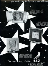 1948 : Horloges JAZ Clock - French Ad