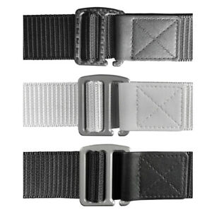 Men Casual Titanium Alloy / Carbon Fiber Belt Buckle with Nylon Belt Waistband
