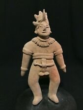 Pre-Columbian Clay Aztec  Gingerbread Statue