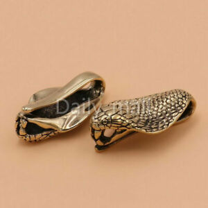 1x Solid Retro Brass snake Pendants U-ring Belt Hook charms Keyring Bag Decor