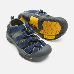 Keen Newport H2 Sandal Youth Big Kids Boys Deep Blue/Gargoyle Sz 2 NIB