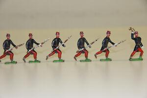 6 Stück alte Heyde-Figuren, Französische Infanterie 1870/71