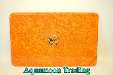 NEW Dell Inspiron 15R N5110 Back Switchable Paisley Orange Cover LCD LID 6K7MP